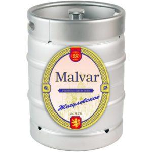 Пиво Жигулевское нефильтрованное светлое Малвар кег 30 л