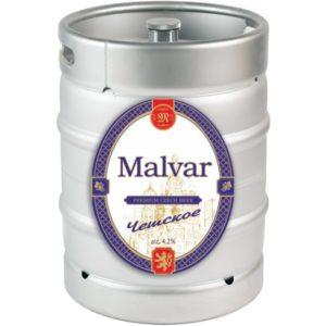 Пиво Чешское нефильтрованное светлое Малвар кег 30 л