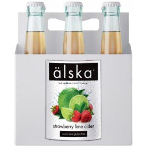 Сидр фруктовый Alska Strawberry & lime fruit (Альска клубника и лайм) Швеция в ящике 12шт × 0,5 л