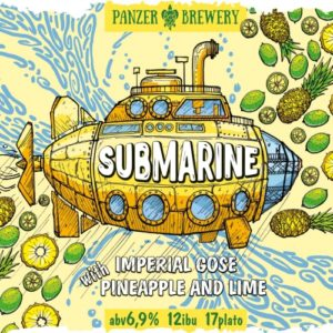 Пиво Submarine (Субмарина) Panzer Brewery гозе с огурцом и дыней кег 30 л