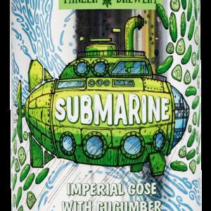 Пиво Submarine (Субмарина) Panzer Brewery гозе с огурцом и дыней упаковка 12 шт × 0, 33 л