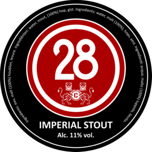 Пиво Caulier 28 Imperial Stout (Каулер 28 Империал Стаут) фильтрованное тёмное стаут кег 30 л Бельгия