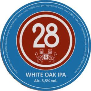 Пиво Caulier 28 White Oak IPA (Каулер 28 Вайт Оак ИПА) фильтрованное светлое эль кег 30 л Бельгия